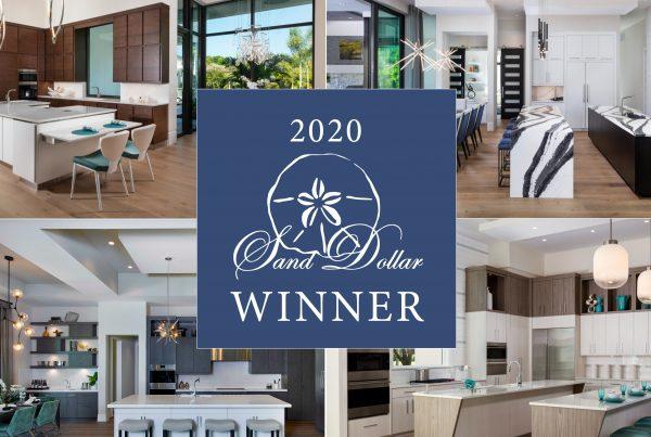 2020 sand dollar award winner McGarvey homes best kitchen design