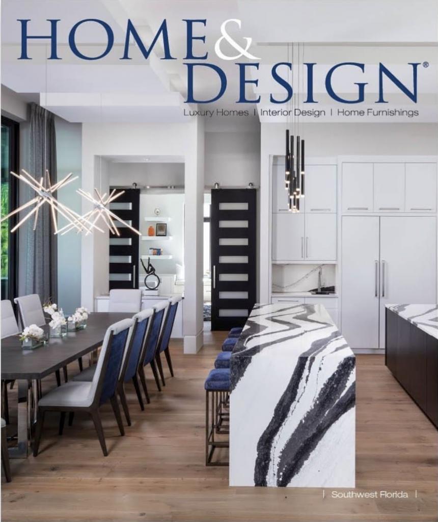 Home and Design Magazine McGarvey Custom Homes Cover Custom Kitchen